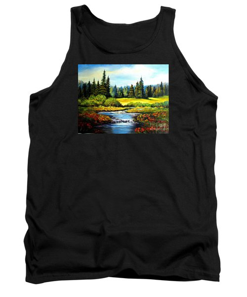 Tank Top featuring the painting Alpine Meadow by Hazel Holland