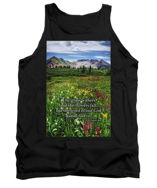 Tank Top featuring the photograph Alpine Meadow by Priscilla Burgers