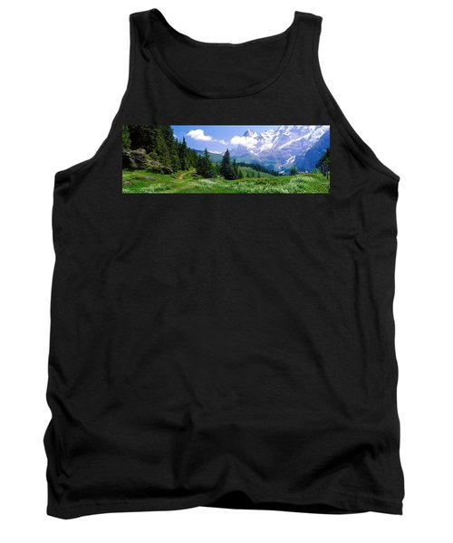 Alpine Scene Near Murren Switzerland Tank Top