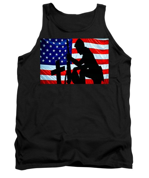 A Time To Remember American Flag At Rest Tank Top