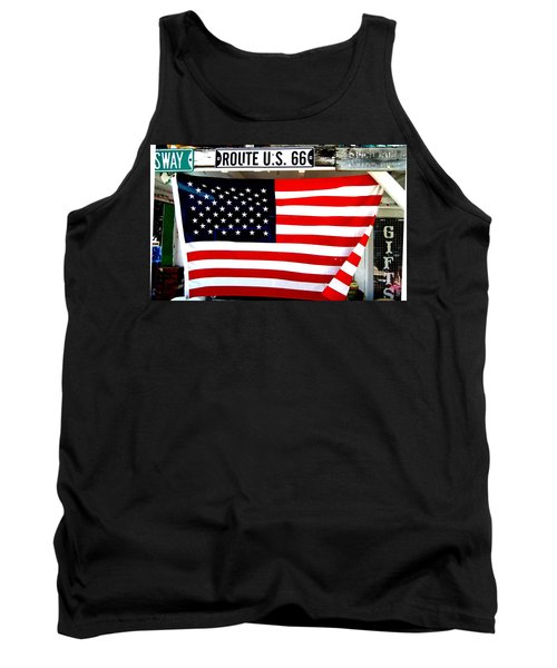 American Flag Route 66 Tank Top