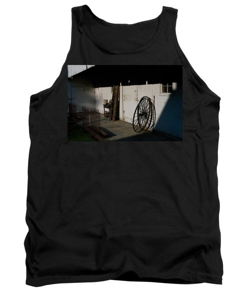 Amish Buggy Wheel Tank Top by Greg Graham