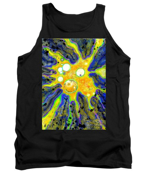Tank Top featuring the painting Amoeba Senescent by Carol Jacobs