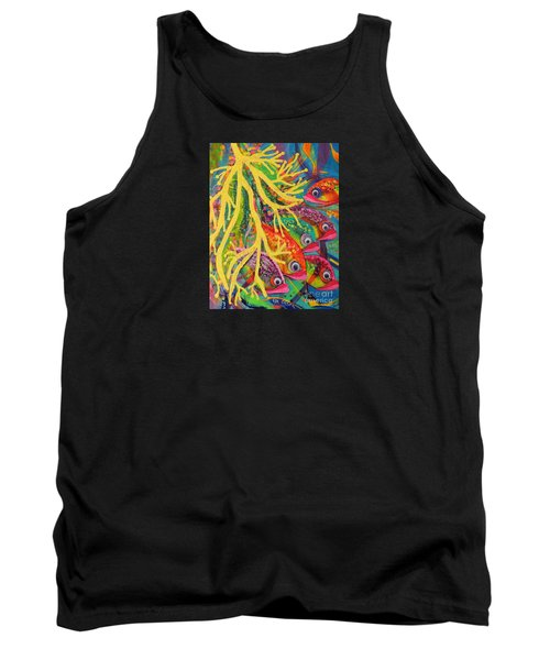 Tank Top featuring the painting Amongst The Coral by Lyn Olsen