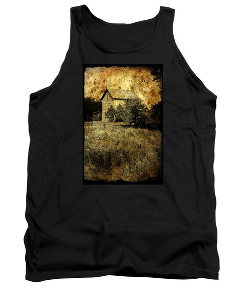 An Aged Photo Of The Old Waterloo Mill Tank Top by Janice Adomeit