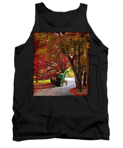 An Amish Autumn Ride Tank Top