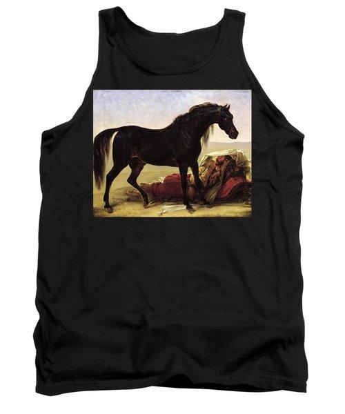 An Arabian Horse Oil On Canvas Tank Top