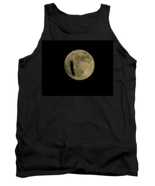 An Eagle And The Moon Tank Top by Mark Alan Perry