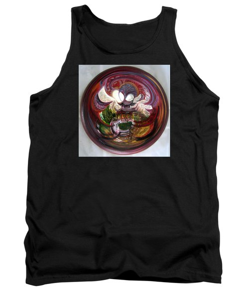 Anamorphic Chinese Pagoda Tank Top by LaVonne Hand