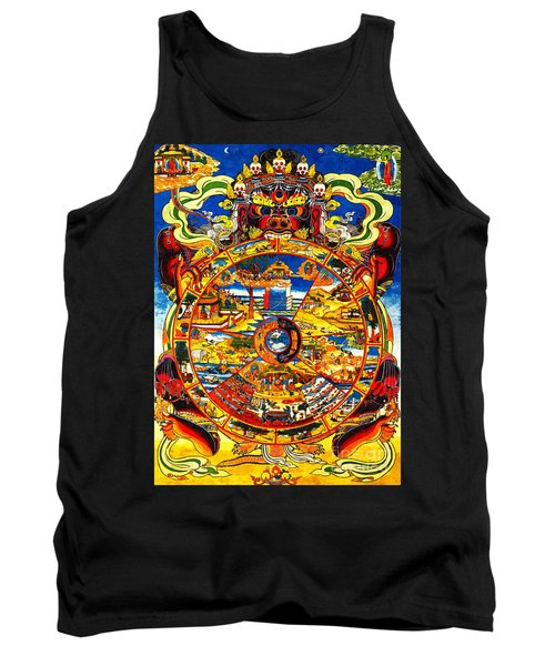 Ancient Tibetan Tangka Wheel Of Life Tank Top