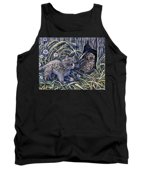 And The Grasshopper Says.. Owl Be Seeing U Tank Top by Gail Butler