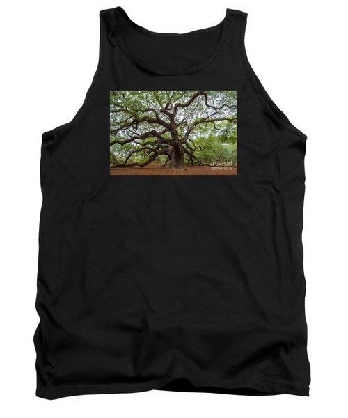Tank Top featuring the photograph Angel Oak Tree by Dale Powell
