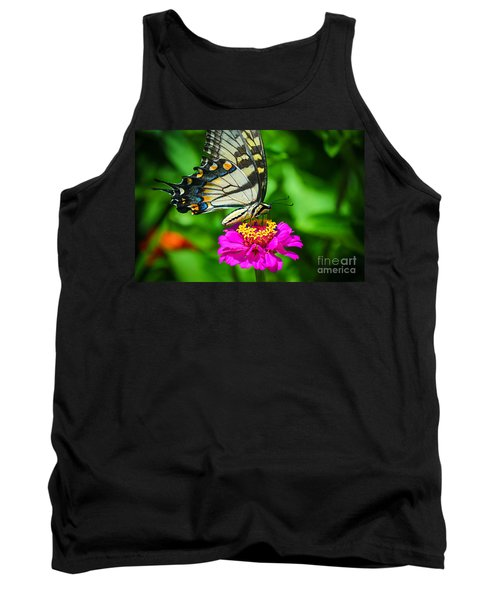 Anise  Swallowtail Butterfly Tank Top by Peggy Franz