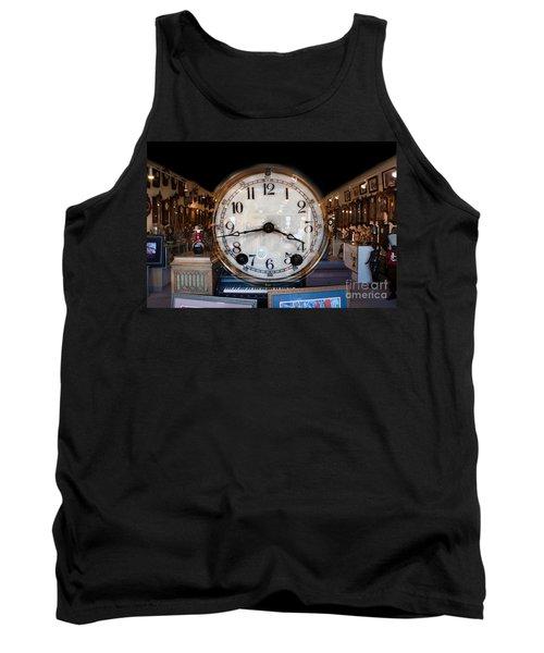 Tank Top featuring the photograph Antique Clock Store by Gunter Nezhoda