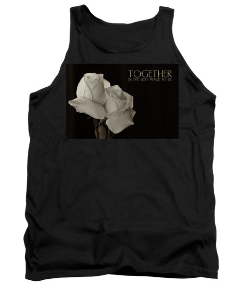 Antique Roses With Message Tank Top