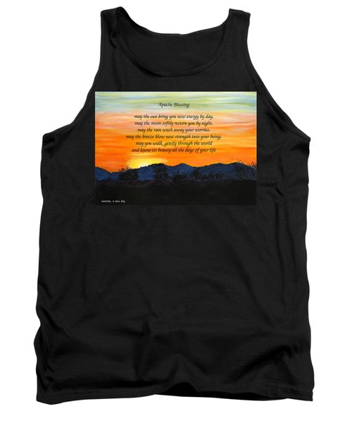 Apache Blessing-sunrise Tank Top