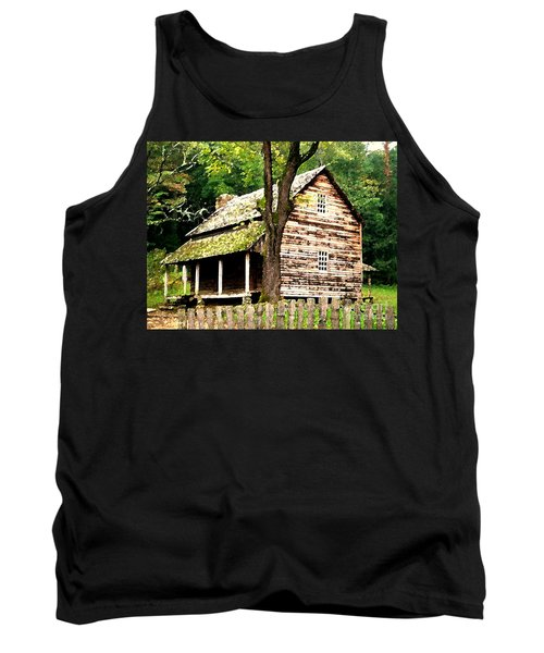 Appalachian Cabin Tank Top by Desiree Paquette