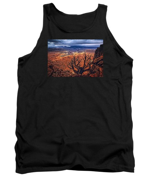 Tank Top featuring the photograph Approaching Storm by Priscilla Burgers