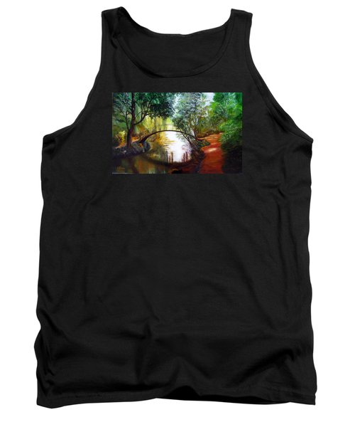 Arched Bridge Over Brilliant Waters Tank Top by LaVonne Hand