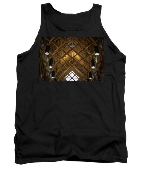 Arched Trusses - University Of Florida Chapel On Lake Alice Tank Top