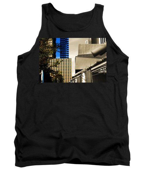 Architectural Crumpled Steel Gehry Tank Top