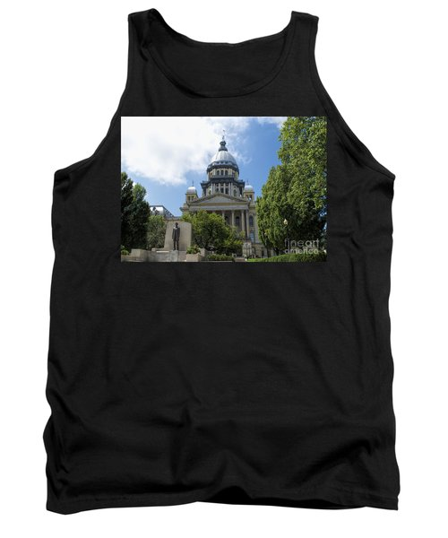 Architecture - Illinois State Capitol  - Luther Fine Art Tank Top by Luther Fine Art