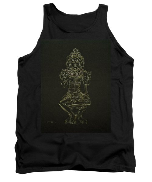 Tank Top featuring the drawing Ardhanarishvara I by Michele Myers