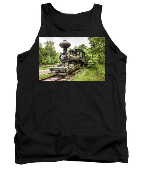 Tank Top featuring the photograph Argent Lumber Company Engine No. 4 - Antique Steam Locomotive by Gary Heller