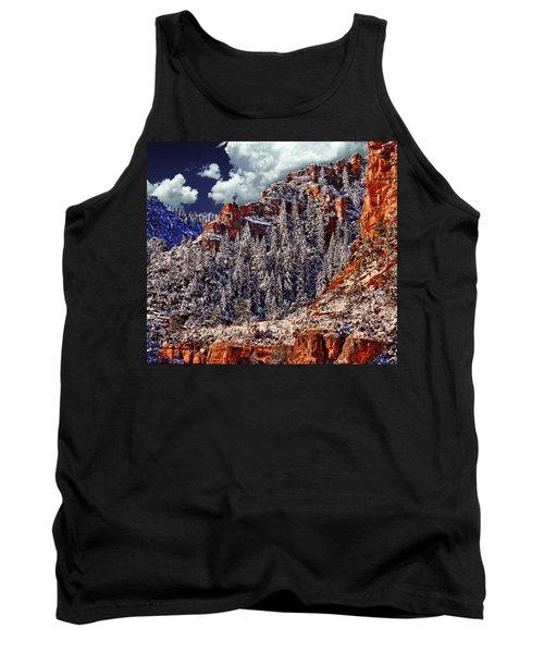 Arizona Secret Mountain Wilderness In Winter Tank Top