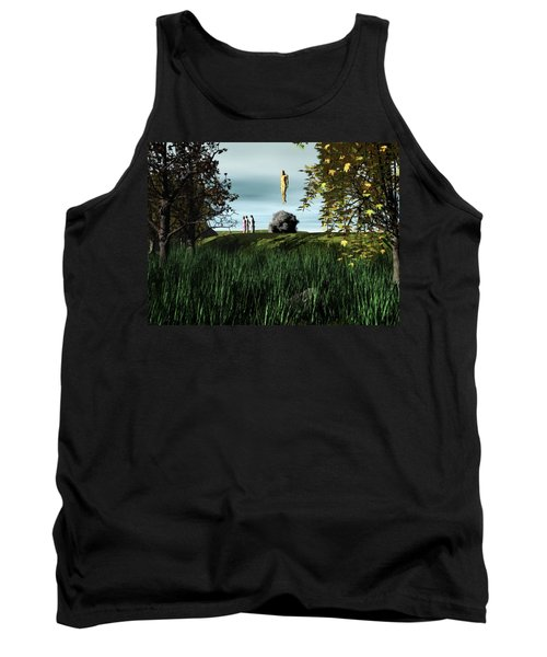 Tank Top featuring the digital art Arrival Of The Deceiver by John Alexander