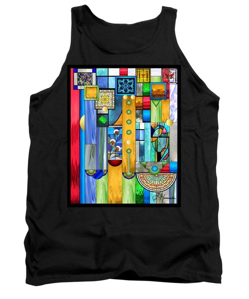 Art Deco Stained Glass 1 Tank Top