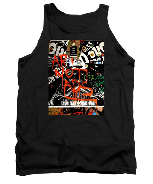 Tank Top featuring the photograph Art Not Ads by Newel Hunter