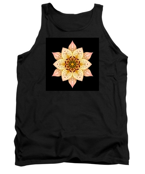 Tank Top featuring the photograph Asiatic Lily Flower Mandala by David J Bookbinder