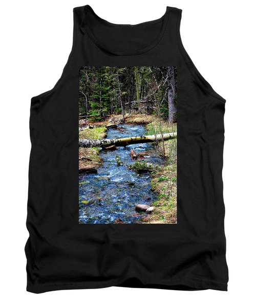 Tank Top featuring the photograph Aspen Crossing Mountain Stream by Barbara Chichester