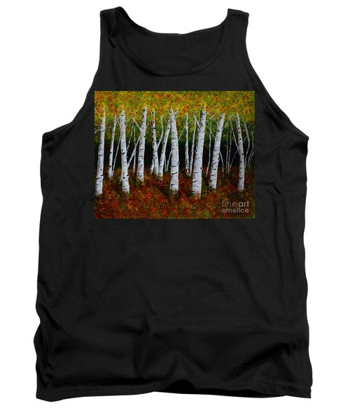 Aspens In Fall 2 Tank Top by Melvin Turner