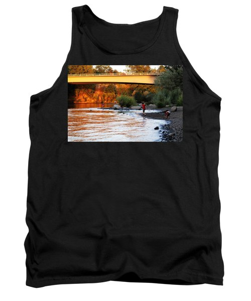 Tank Top featuring the photograph At Rivers Edge by Melanie Lankford Photography