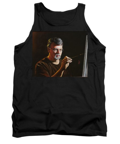 At The Easel Self Portrait Tank Top