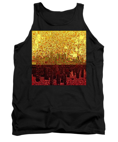 Atlanta Skyline Abstract 3 Tank Top