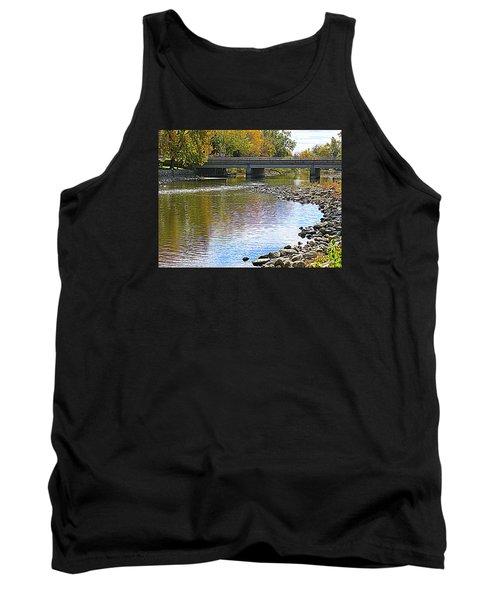 Autumn Along The Fox River Tank Top