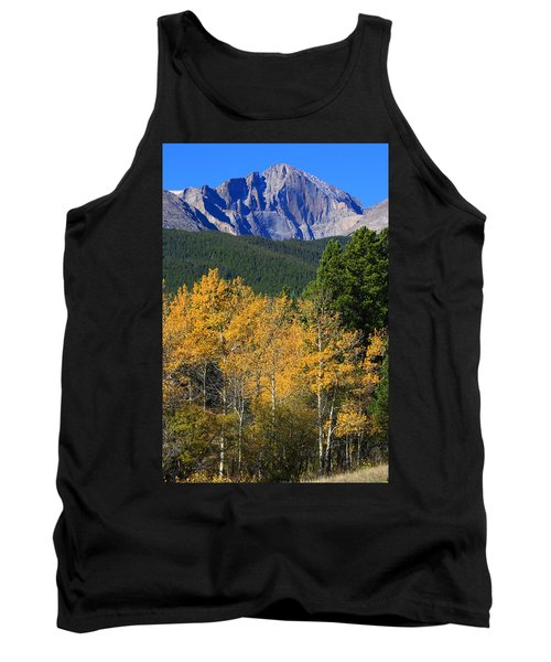 Autumn Aspens And Longs Peak Tank Top