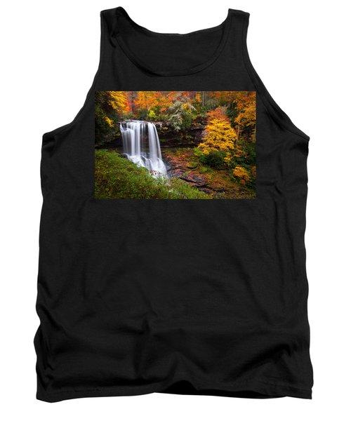 Autumn At Dry Falls - Highlands Nc Waterfalls Tank Top