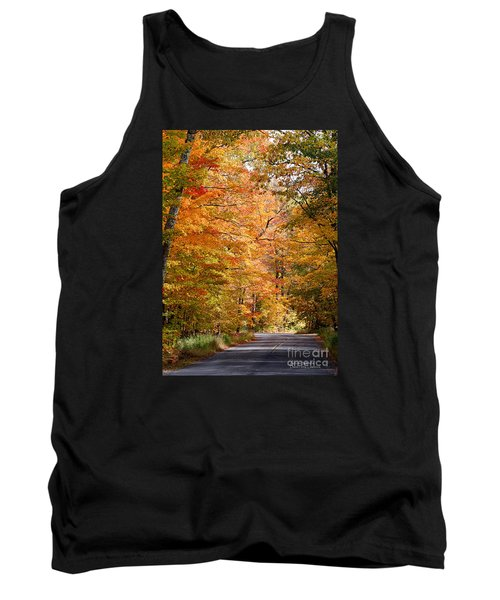 Tank Top featuring the photograph Autumn Colors - Colorful Fall Leaves Wisconsin IIi by David Perry Lawrence
