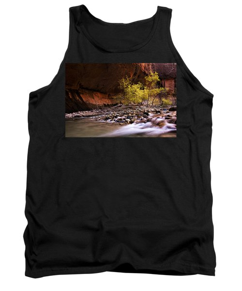 Tank Top featuring the photograph Autumn Cottonwood In The Narrows by Andrew Soundarajan