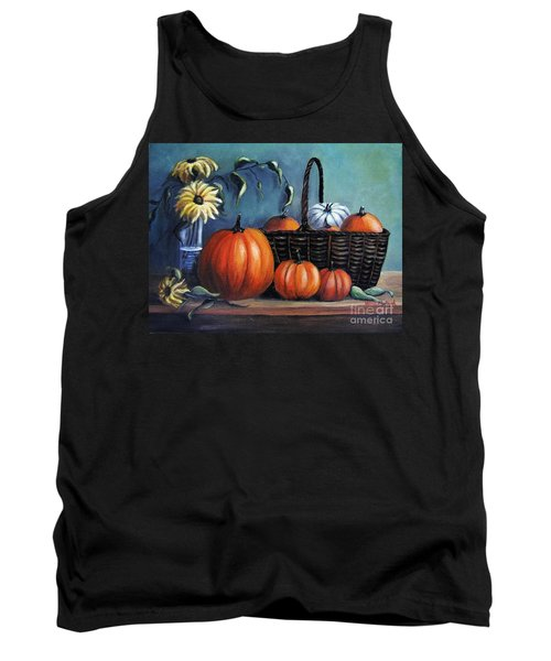 Tank Top featuring the painting Autumn Gifts by Vesna Martinjak