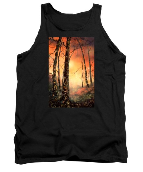 Tank Top featuring the painting Autumn Glow by Jean Walker