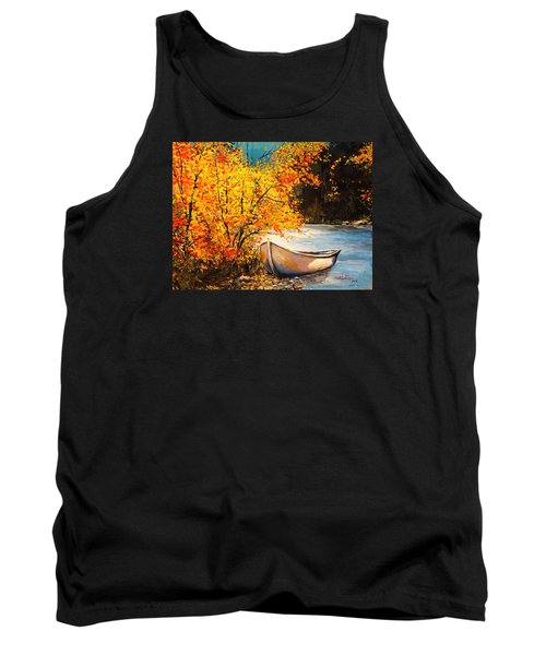 Autumn Gold Tank Top by Alan Lakin