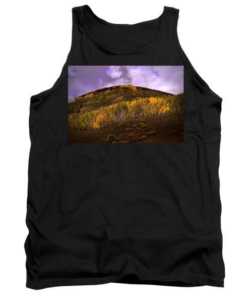Tank Top featuring the photograph Autumn Hillside by Ellen Heaverlo
