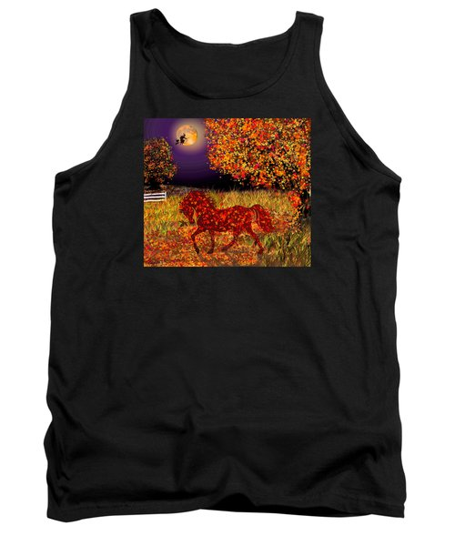 Autumn Horse Bewitched Tank Top by Michele Avanti