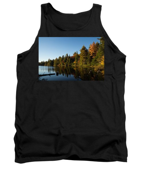 Autumn Lake In The Forest - Reflection Tranquility Tank Top