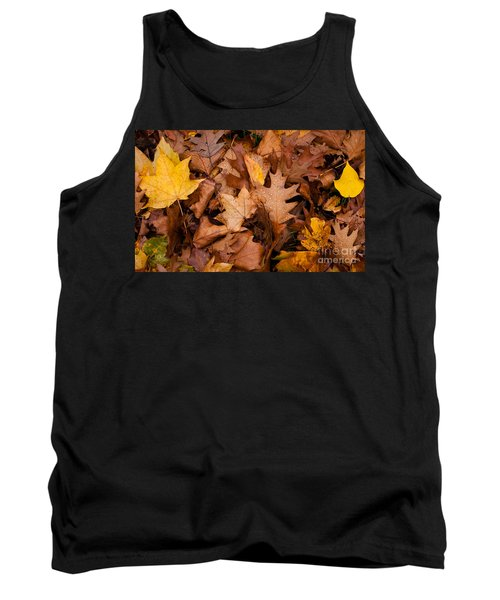 Tank Top featuring the photograph Autumn Leaves by Matt Malloy